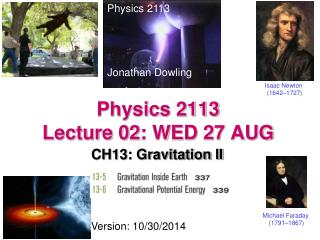 Physics 2113  Lecture 02 : WED 27  AUG