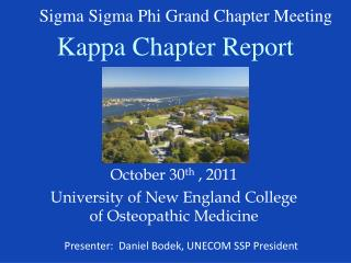 Kappa Chapter Report