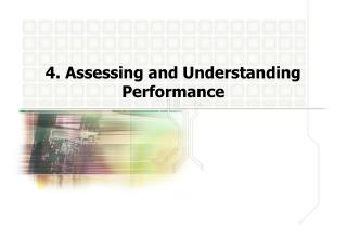 4. Assessing and Understanding Performance