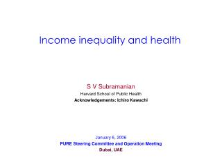 Income inequality and health