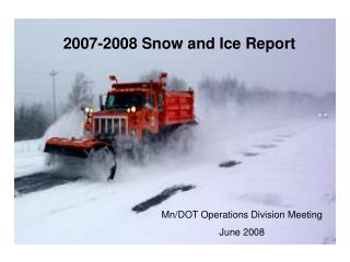 2007-2008 Snow and Ice Report