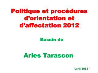 Politique et procédures d'orientation et d'affectation 2012