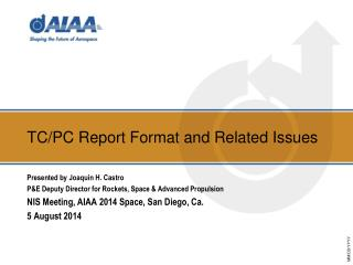 TC/PC  Report Format and Related Issues