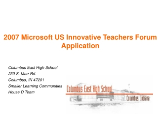 2007 Microsoft US Innovative Teachers Forum Application