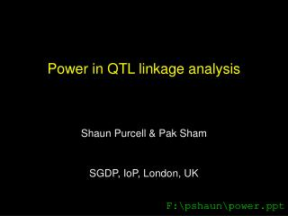 Power in QTL linkage analysis