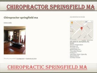 Chiropractor Springfield Ma