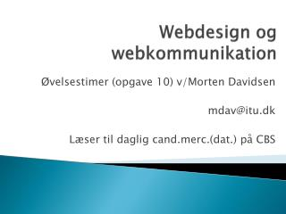 Webdesign og webkommunikation