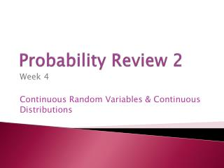 Probability Review 2