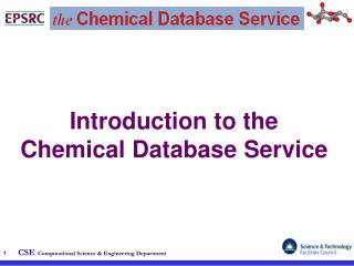 Introduction to the Chemical Database Service