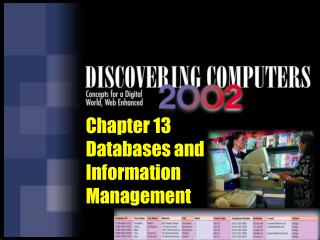 Chapter 13 Databases and Information Management