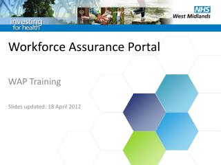 Workforce Assurance Portal