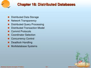 Chapter 18: Distributed Databases
