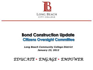 Bond Construction Update  Citizens Oversight Committee