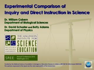Experimental Comparison of  Inquiry and Direct Instruction in Science