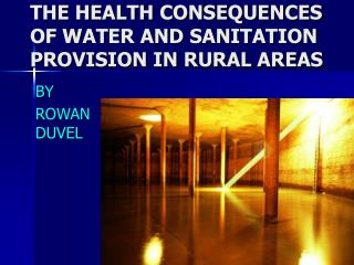 THE HEALTH CONSEQUENCES OF WATER AND SANITATION PROVISION IN RURAL AREAS