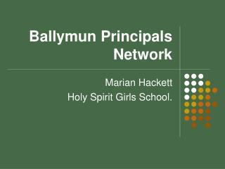 Ballymun Principals Network