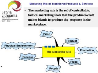 Marketing Mix of Traditional Products  &  Services