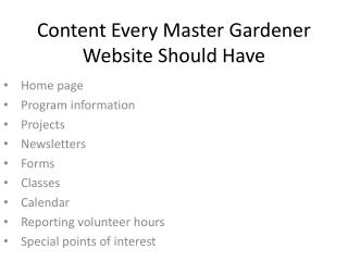Content Every Master Gardener Website Should Have