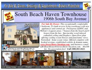 South Beach Haven Townhouse        1906b South Bay Avenue