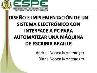 Andrea  Noboa  Montenegro Diana  Noboa  Montenegro