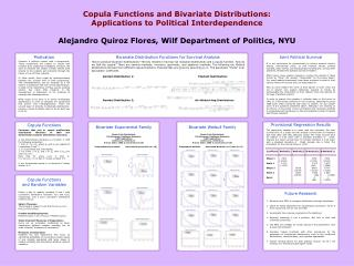Copula Functions and Bivariate Distributions:  Applications to Political Interdependence