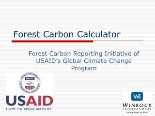 Forest Carbon Calculator