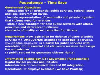 Poupatempo – Time Save