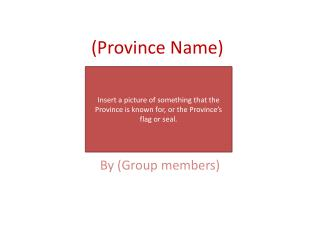 (Province Name)