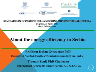 About the energy efficiency in Serbia