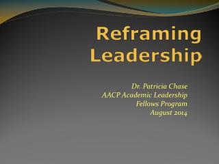 Reframing Leadership