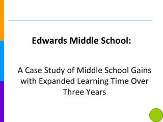 Edwards Middle School: