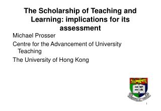 The Scholarship of Teaching and Learning: implications for its assessment