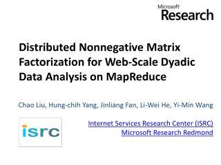 Distributed Nonnegative Matrix Factorization for Web-Scale Dyadic Data Analysis on MapReduce