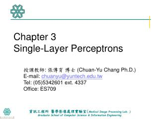 Chapter 3 Single-Layer Perceptrons