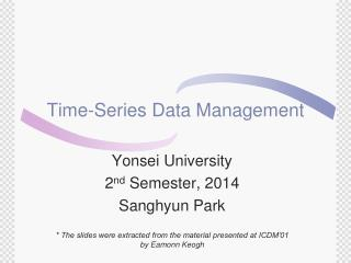 Time-Series Data Management