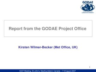 Kirsten Wilmer-Becker (Met Office, UK)