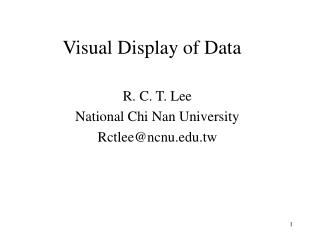 Visual Display of Data