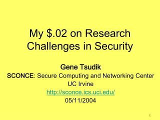 My $.02 on Research Challenges in Security