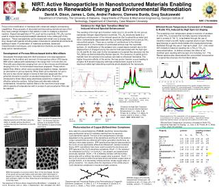 NIRT: Active Nanoparticles in Nanostructured Materials Enabling Advances in Renewable Energy and Environmental Remediati
