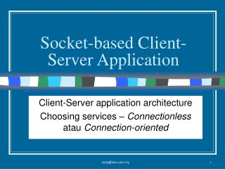 Socket-based Client-Server Application