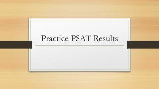 Practice  PSAT  Results