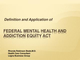 Federal Mental Health and Addiction Equity Act