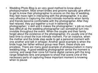 Wedding Photo Blog