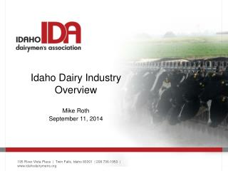 Idaho Dairy Industry Overview