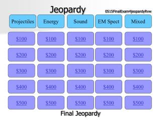 Jeopardy 0515FinalExam4jeopardyRvw