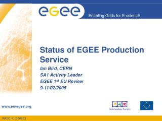 Status of EGEE Production Service