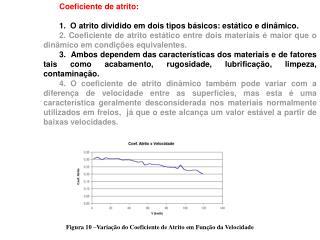 Coeficiente de atrito:  1.O atrito dividido em dois tipos básicos: estático e dinâmico.