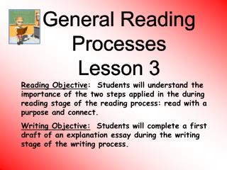 General Reading Processes Lesson 3
