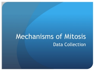 Mechanisms of Mitosis