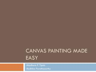 Canvas Painting made easy